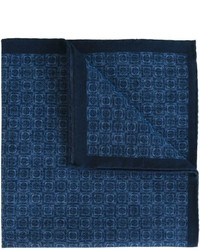 Pañuelo de bolsillo de algodón estampado azul marino de Eleventy