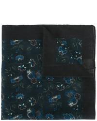Pañuelo de bolsillo de algodón estampado azul marino de Paul Smith