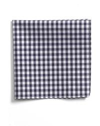 Pañuelo de bolsillo de cuadro vichy azul marino