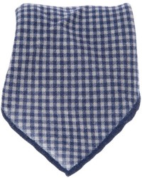 Pañuelo de bolsillo de cuadro vichy blanco de Brunello Cucinelli