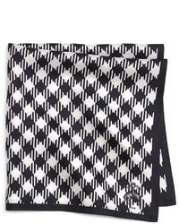 Pañuelo de bolsillo de cuadro vichy en blanco y negro