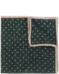 Pañuelo de bolsillo de lana a lunares verde oscuro de Eleventy