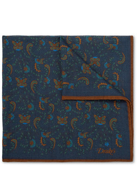 Pañuelo de bolsillo de paisley azul marino