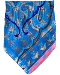 Pañuelo de bolsillo de paisley azul de Etro