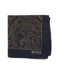 Pañuelo de bolsillo de paisley en marrón oscuro