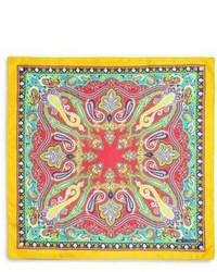 Pañuelo de bolsillo de paisley en multicolor