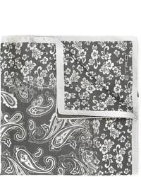 Pañuelo de bolsillo de paisley gris de Etro