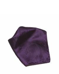 Pañuelo de bolsillo de paisley morado oscuro