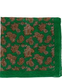 Pañuelo de bolsillo de paisley verde oscuro
