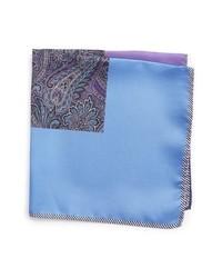 Pañuelo de bolsillo de paisley violeta claro