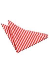 Pañuelo de bolsillo de rayas horizontales en blanco y rojo