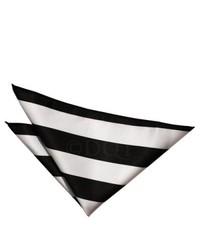 Pañuelo de bolsillo de rayas horizontales en negro y blanco