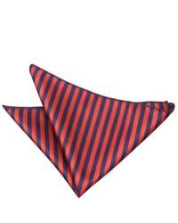 Pañuelo de bolsillo de rayas verticales en rojo y azul marino
