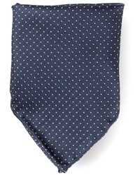 Pañuelo de bolsillo de seda a lunares azul marino de Mr Start
