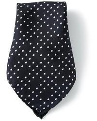 Pañuelo de bolsillo de seda a lunares azul marino de Vivienne Westwood