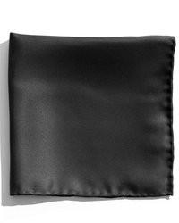 Pañuelo de bolsillo de seda negro