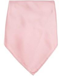 Pañuelo de bolsillo de seda rosado de Lanvin