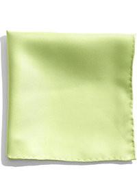 Pañuelo de bolsillo de seda verde