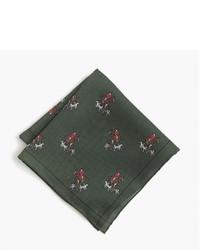 Pañuelo de bolsillo de seda verde oscuro