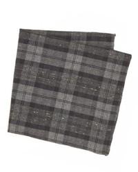 Pañuelo de bolsillo de tartán en gris oscuro