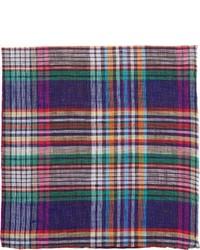 Pañuelo de bolsillo de tartán en multicolor
