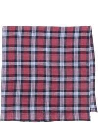 Pañuelo de bolsillo de tartán rojo