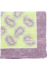 Pañuelo de bolsillo en amarillo verdoso