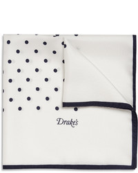 Pañuelo de bolsillo en blanco y azul marino