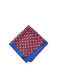 Pañuelo de bolsillo en blanco y rojo y azul marino