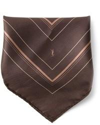 Pañuelo de bolsillo en marrón oscuro