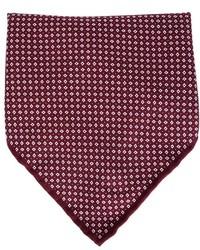 Pañuelo de bolsillo estampado burdeos de Brunello Cucinelli