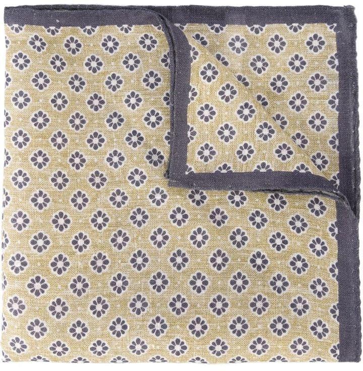 Pañuelo de bolsillo estampado en beige de Eleventy