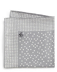 Pañuelo de bolsillo estampado gris
