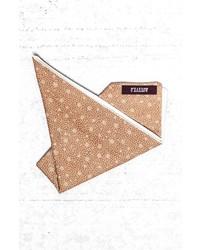 Pañuelo de bolsillo estampado marrón claro