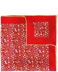 Pañuelo de bolsillo estampado rojo de Salvatore Ferragamo