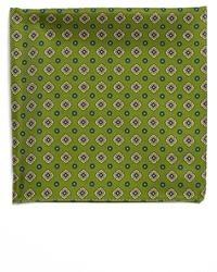 Pañuelo de bolsillo estampado verde oliva