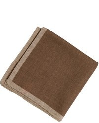 Pañuelo de bolsillo marrón