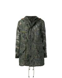 Parka de camuflaje verde oscuro de Mr & Mrs Italy