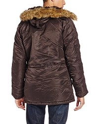 Parka en marrón oscuro de Alpha Industries