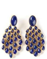Pendientes azul marino de Aurelie Bidermann