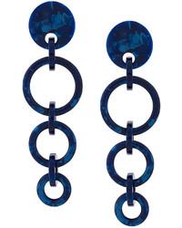 Pendientes azul marino de Lele Sadoughi