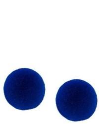Pendientes azul marino de MM6 MAISON MARGIELA