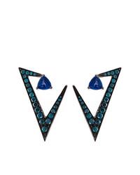 Pendientes azul marino de Nikos Koulis