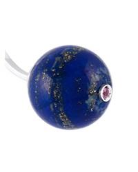 Pendientes azul marino de Delfina Delettrez