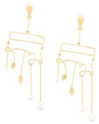 Pendientes dorados de Aurelie Bidermann