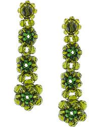 Pendientes verde oliva de Simone Rocha