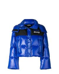 Plumífero azul de Miu Miu
