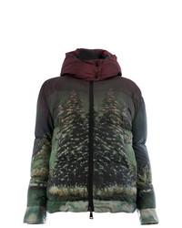 Plumífero verde oscuro de Moncler