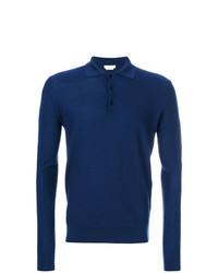 Polo de manga larga azul marino de Fashion Clinic Timeless
