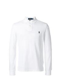 Polo de manga larga blanco de Polo Ralph Lauren
